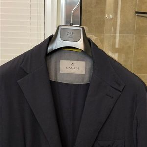 Canali water-resistant Sports Coat - Navy